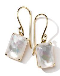 Ippolita - Metallic 18k Gold Rock Candy Gelato Single Rectangle Drop Earrings - Lyst