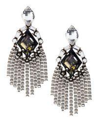 DANNIJO   Metallic Allegra Crystal Drop Earrings   Lyst