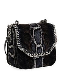 Stella McCartney - Brown Falabella Snake-print Velvet Shoulder Bag - Lyst