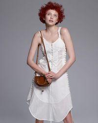 Chloé - White Sleeveless Corset-detail Dress - Lyst