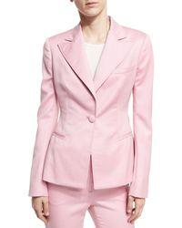 Oscar de la Renta - Pink One-button Blazer - Lyst