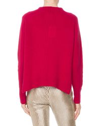 Isabel Marant - Multicolor Crewneck Long-sleeve Pure Cashmere Sweater W/ Side Slits - Lyst