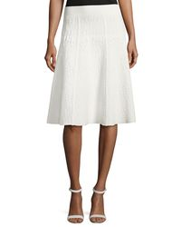 A.L.C. - White Amya Textured A-line Skirt - Lyst