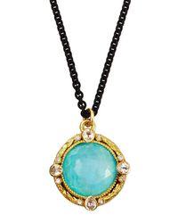 Armenta - Blue Turquoise Moonstone Pendant Necklace - Lyst