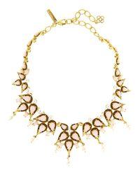 Oscar de la Renta | Metallic Pear Cabochon Collar Necklace | Lyst