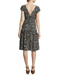 Isabel Marant - Black Glory Printed Cap-sleeve Dress - Lyst