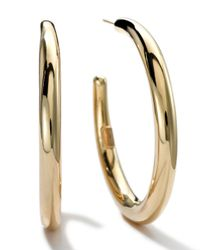 Ippolita | Metallic 18k Gold #3 Smooth Hoop Earrings | Lyst