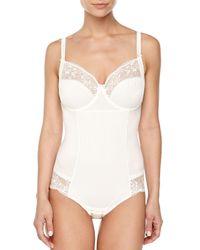 Chantelle | White Pont Neuf Mesh-inset Bodysuit | Lyst