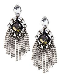 DANNIJO | Metallic Allegra Crystal Drop Earrings | Lyst