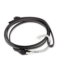 Miansai | Black Hook Leather Bracelet for Men | Lyst