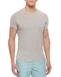 Orlebar Brown | Gray Tommy Crewneck Short-sleeve T-shirt for Men | Lyst