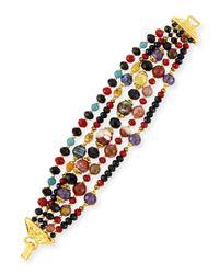 Jose & Maria Barrera | Black Multi-strand Beaded Bracelet | Lyst