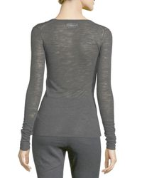Étoile Isabel Marant - Black Debra Long-sleeve Heathered Top - Lyst