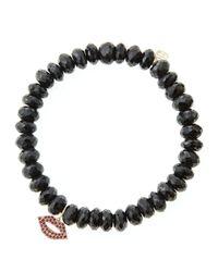 Sydney Evan - Black Design Your Own Bracelet (made To Order) - Lyst