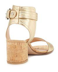 Gianvito Rossi - Metallic Leather Sandals - Lyst