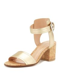Gianvito Rossi - Metallic Leather Sandals - Lyst