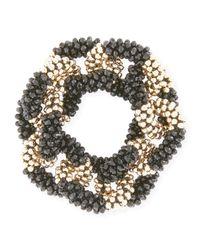 Meredith Frederick   Metallic Elsa 14k Gold & Onyx Link Bracelet   Lyst