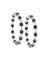 Givenchy | Metallic Rosario Swarovski® Crystal Hoop Earrings | Lyst