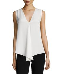 Theory - White Meighlan Classic Silk Top - Lyst
