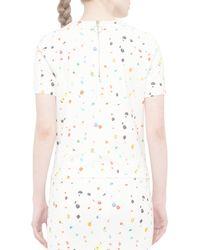 Akris Punto - Multicolor Short-sleeve Boulder-print Top - Lyst
