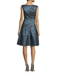 Talbot Runhof - Multicolor Golo Iridescent Fit-and-flare Dress - Lyst