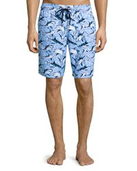 Vilebrequin | Multicolor Okoa Shark-print Swim Trunks for Men | Lyst