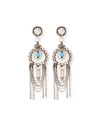 DANNIJO - Metallic Monterosso Chain-drop Statement Earrings - Lyst