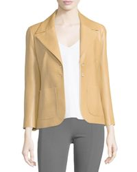 The Row | Yellow Leather Two-pocket Schoolboy Jacket | Lyst
