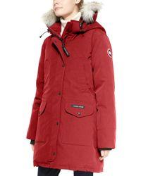 Canada Goose | Red Trillium Fur-hood Parka Jacket | Lyst