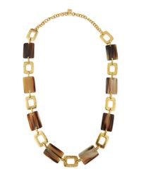 Ashley Pittman | Brown Bustani Light Horn Link Necklace | Lyst
