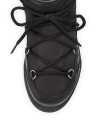 Moncler - Black Fanny Shearling-lined Lace-up Boot - Lyst