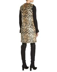 Alice + Olivia - Multicolor Jade Leopard-print Faux-fur Vest W/floral Pins - Lyst