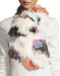 Pologeorgis | Multicolor Fox Fur Scarf | Lyst