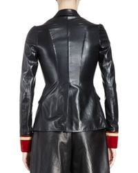 Givenchy | Multicolor Leather Jacket W/velvet Cuffs | Lyst