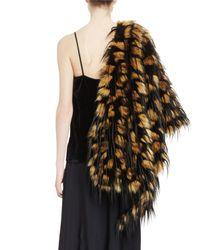 Dries Van Noten - Multicolor Festa Faux-fur Monkey Feather Stole - Lyst