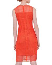 Akris - Sleeveless Embroidered Sheath Dress - Lyst