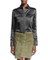 Tom Ford - Green Long-sleeve Safari Shirt - Lyst