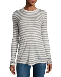 ATM | Gray Long-sleeve Striped Jersey Tee | Lyst