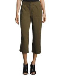 Rag & Bone   Green Denny Cropped Wide-leg Pants   Lyst