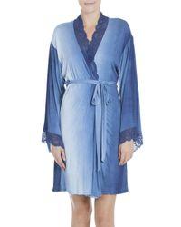 Jonquil   Blue Stormy Skies Jersey Wrap Robe   Lyst
