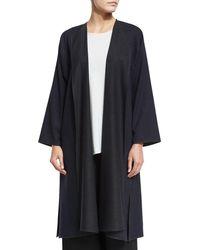 Eskandar | Blue Two-tone Russian Coat Jacket | Lyst