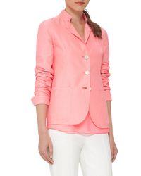 Akris   Pink Ingwer Three-button Jacket   Lyst
