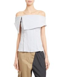 Monse | White Striped Off-shoulder Corset Top | Lyst