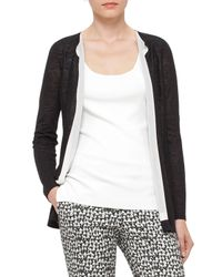 Akris - Black Knit Open-front Cardigan - Lyst