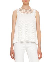 Akris Punto | White Sleeveless Layered Mesh Top | Lyst