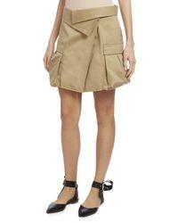 Monse | Natural Asymmetric Canvas Cargo Skirt | Lyst