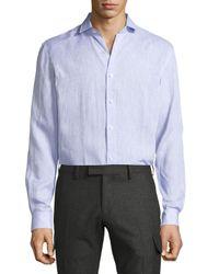 Ralph Lauren - Purple Solid Linen Button-down Shirt for Men - Lyst