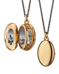 Monica Rich Kosann | Metallic 18k Yellow Gold Four-picture Locket With Diamonds | Lyst