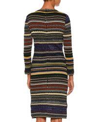Missoni - Multicolor Patchwork-knit Long-sleeve Dress - Lyst