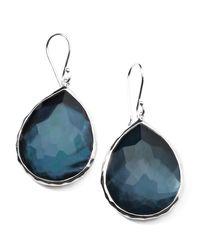Ippolita   Blue Sterling Silver Wonderland Teardrop Earrings In Indigo   Lyst